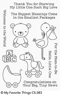 My Favorite Things HELLO LITTLE ONE Clear Stamps CS283