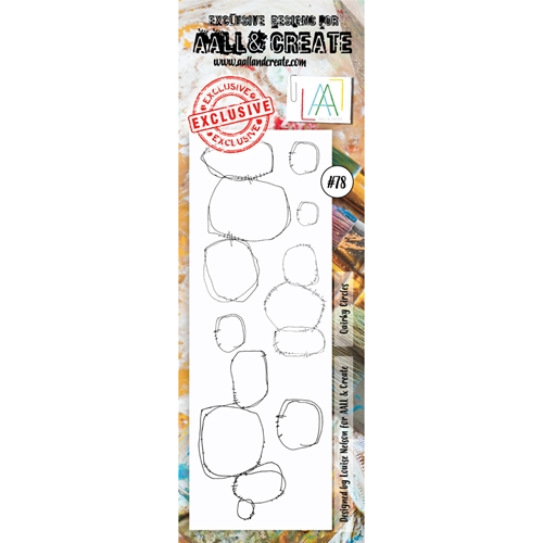 AALL & Create QUIRKY CIRCLES BORDER 78 Clear Stamp aal00078  Preview Image