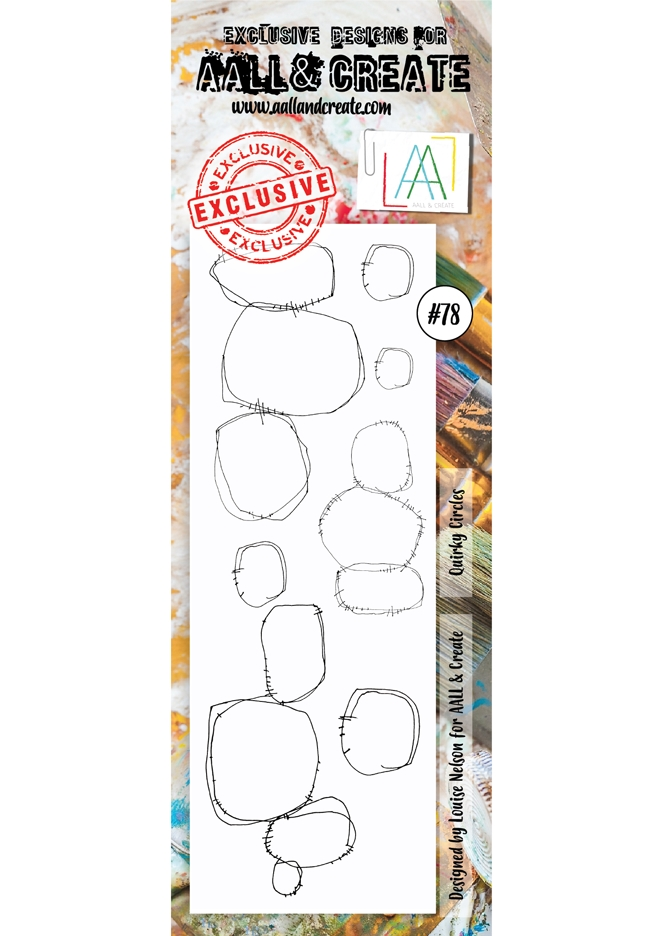 AALL & Create QUIRKY CIRCLES BORDER 78 Clear Stamp aal00078  zoom image