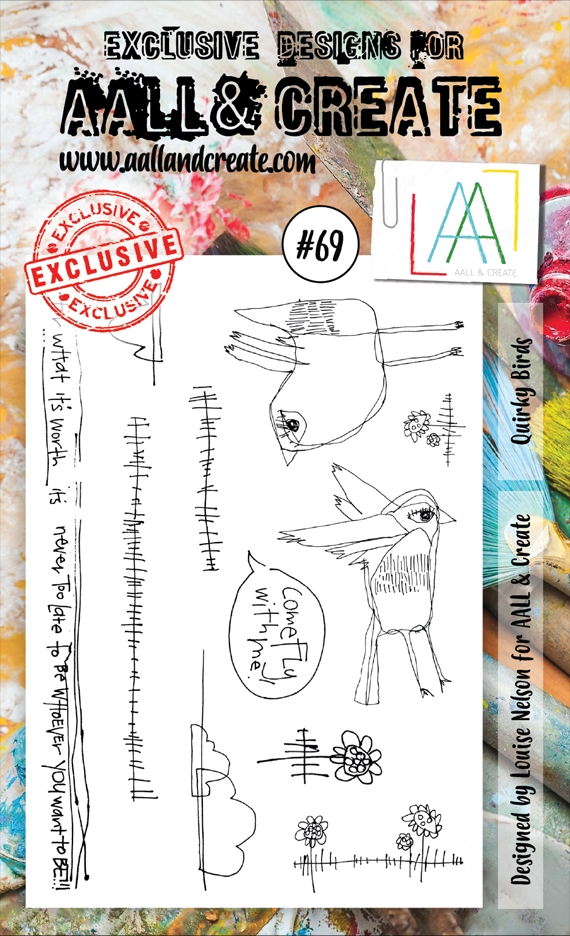 AALL & Create QUIRKY BIRDS 69 Clear Stamp Set aal00069  zoom image