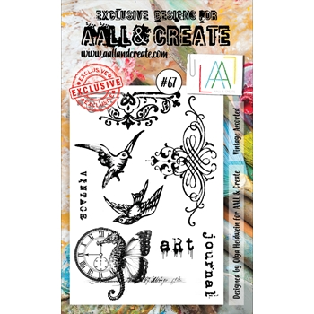 AALL & Create VINTAGE ASSORTED 67 Clear Stamp Set aal00067