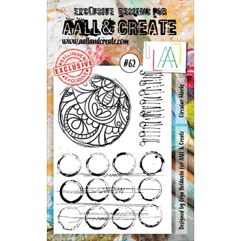 AALL & Create CIRCULAR MARKS 62 Clear Stamp Set aal00062