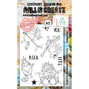 AALL & Create ROCKING CORNS 72 Clear Stamp Set aal00072