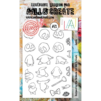 AALL & Create QUIRKS 73 Clear Stamp Set aal00073