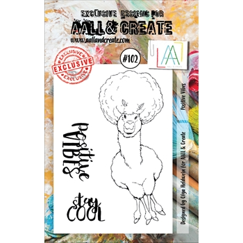 AALL & Create POSITIVE VIBES 102 Clear Stamp Set aal00102