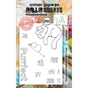 AALL & Create FURRY FRIENDS 1 100 Clear Stamp Set aal00100