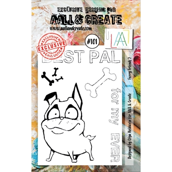 AALL & Create FURRY FRIENDS 2 101 Clear Stamp Set aal00101