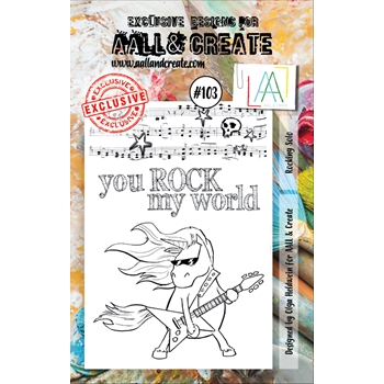 AALL & Create ROCKING SOLO 103 Clear Stamp Set aal00103