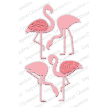Impression Obsession Steel Dies FLAMINGO SET DIE697-W