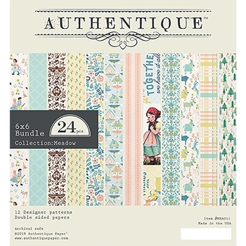 Authentique 6 x 6 MEADOW Paper Pad mea011