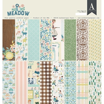 Authentique MEADOW 12 x 12 Paper Pad mea013*