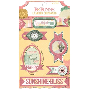 BoBunny SUNSHINE BLISS Layered Chipboard 7310197