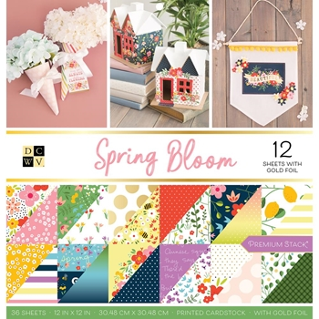 DCWV SPRING BLOOM 12 x 12 Stack 609067