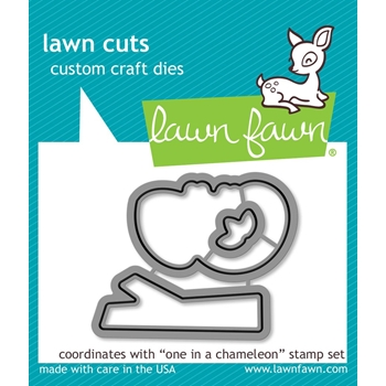 Lawn Fawn ONE IN A CHAMELEON Die Cuts LF1550