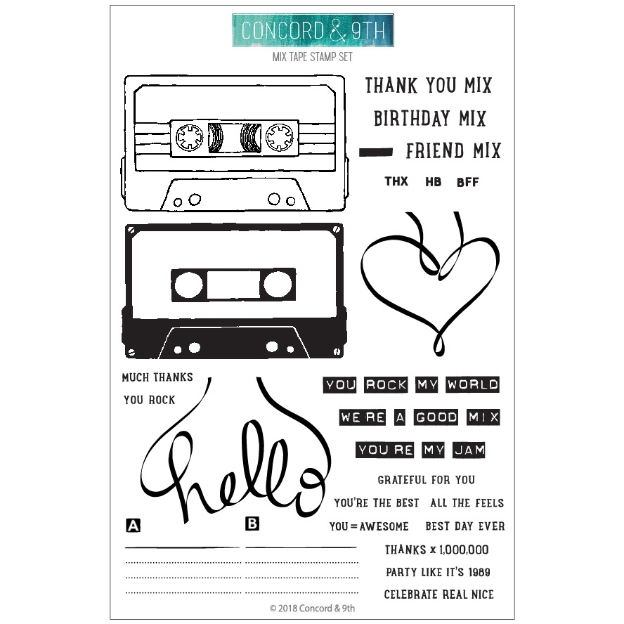 Concord & 9th MIX TAPE Clear Stamp Set 10397 zoom image