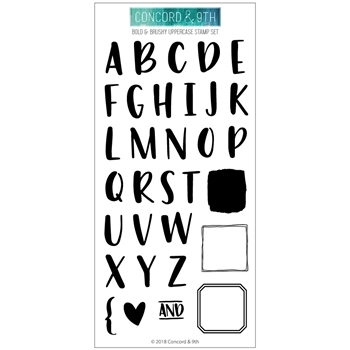 Concord & 9th BOLD AND BRUSHY UPPERCASE Clear Stamp Set 10404