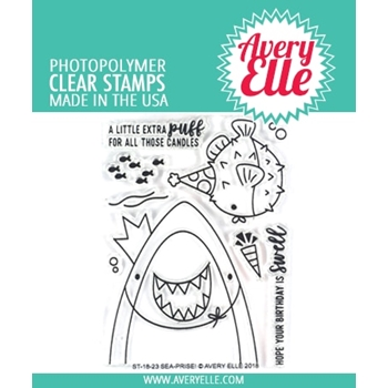 Avery Elle Clear Stamps SEA-PRISE! ST-18-23