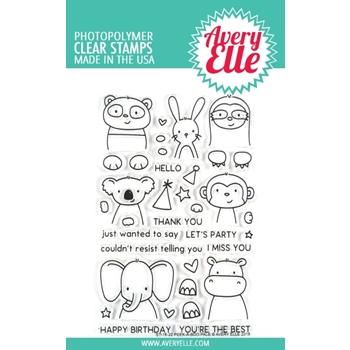 Avery Elle Clear Stamps PEEK A BOO PALS ST-18-22