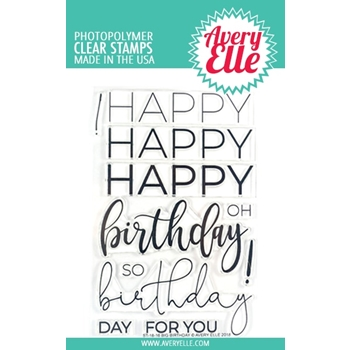 Avery Elle Clear Stamps BIG BIRTHDAY ST-18-16