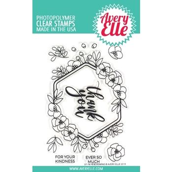 Avery Elle Clear Stamps BLOOMING ST-18-18