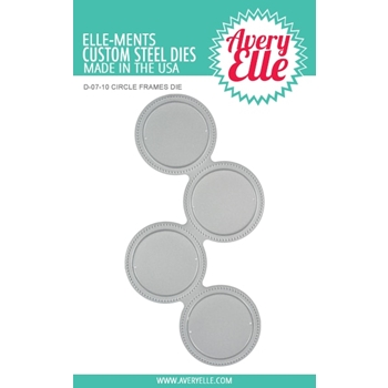 Avery Elle Steel Dies CIRCLE FRAMES D-07-10