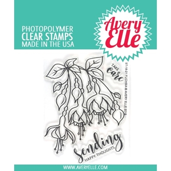 Avery Elle Clear Stamps FUCHSIA ST-18-21*