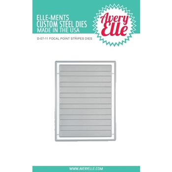 Avery Elle Steel Dies FOCAL POINT STRIPES D-07-11