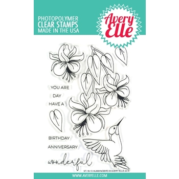 Avery Elle Clear Stamps HUMMINGBIRD ST-18-13