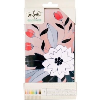 American Crafts One Canoe Two WATERCOLOR PENCILS Twilight 346461