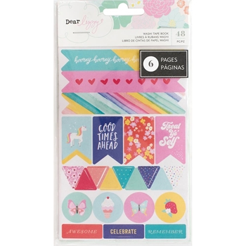 American Crafts Dear Lizzy WASHI TAPE BOOK Stay Colorful 346493