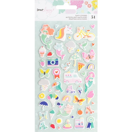 American Crafts Dear Lizzy STAY COLORFUL PUFFY STICKERS 346492 Preview Image