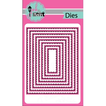 Pink and Main STITCHED RECTANGLES Dies PNM149