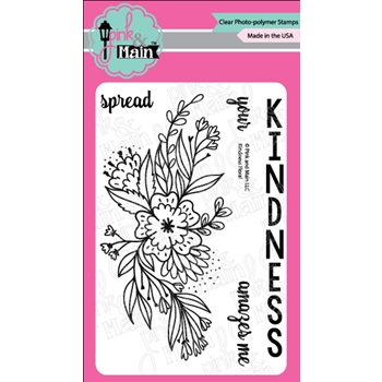 Pink and Main KINDNESS FLORAL Clear Stamps PM0277