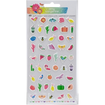 American Crafts Amy Tangerine MINI ICONS Puffy Stickers Sunshine and Good Times 345712
