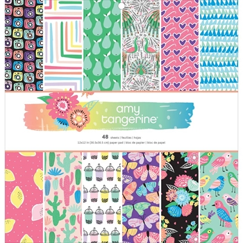 American Crafts Amy Tangerine 12x12 SUNSHINE AND GOOD TIMES Paper Pad 345682