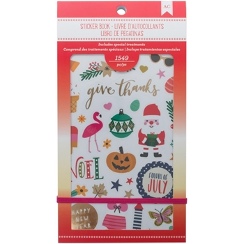 American Crafts SEASONAL Sticker Book 92970
