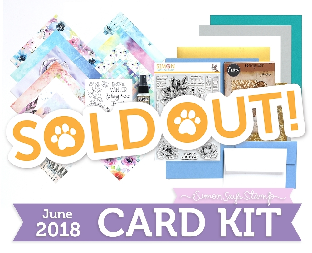 Simon Says Stamp Card Kit of The Month JUNE 2018 FLY ME AWAY ck0618 zoom image
