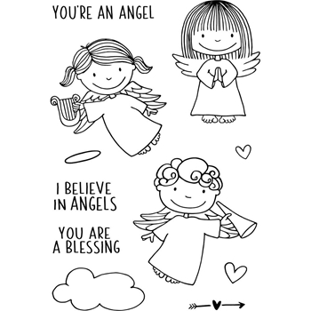 Jane's Doodles ANGELS Clear Stamp Set 743337