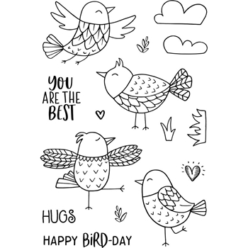 Jane's Doodles FREE AS A BIRD Clear Stamp Set 743320