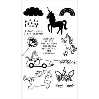 Flora and Fauna UNICORN CAR Clear Stamps 20180