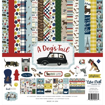 Echo Park A DOG'S TAIL 12 x 12 Collection Kit adt155016