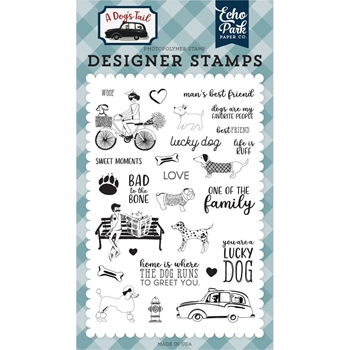Echo Park LUCKY DOG Clear Stamps adt155040