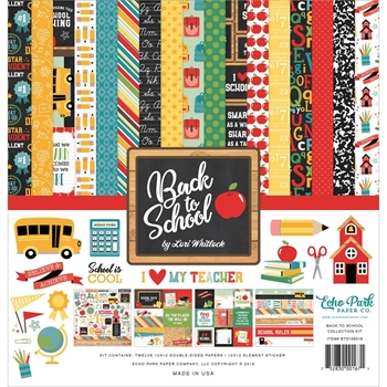 Echo Park BACK TO SCHOOL 12 x 12 Collection Kit bts156016