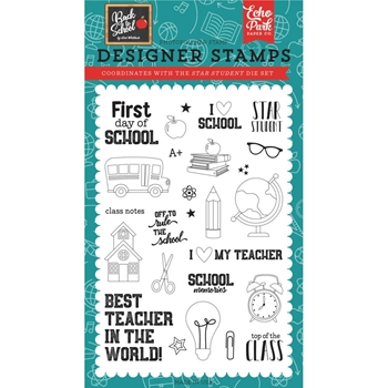 Echo Park STAR STUDENT Clear Stamps bts156043