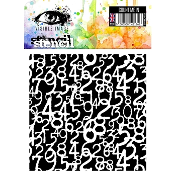 Visible Image COUNT ME IN Stencil VIS-CMI-03