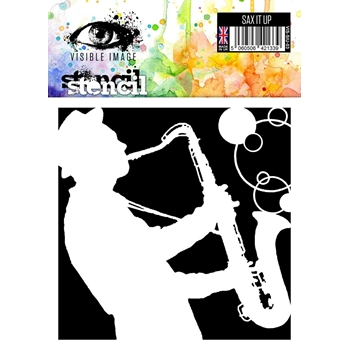 Visible Image SAX IT UP Stencil VIS-SIU-03