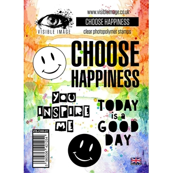Visible Image CHOOSE HAPPINESS Clear Stamps VIS-CHH-01
