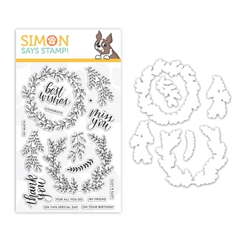 Simon Says Stamps And Dies WREATH GREETINGS set318wg Sending Sunshine