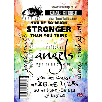 Visible Image SO MUCH STRONGER Clear Stamps VIS-SMS-01