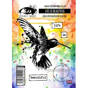 Visible Image LIFE IS BEAUTIFUL Clear Stamp Set VIS-LIB-01